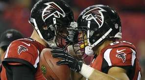 Atlanta Falcons quarterback Matt Ryan and tight end