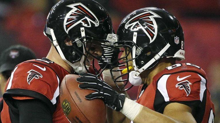 Atlanta Falcons quarterback Matt Ryan and tight end