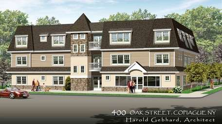 Rendering of the proposed 11-unit apartment complex some