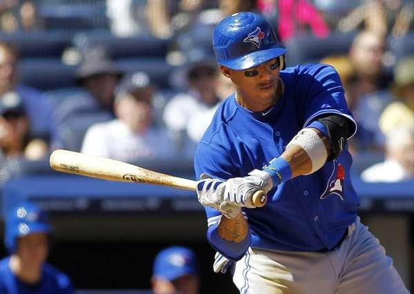Toronto's Yunel Escobar hits a two-run home run