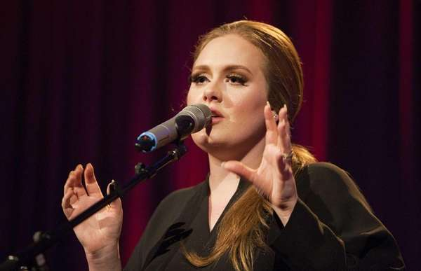 British singer Adele performs at the Santa Monica
