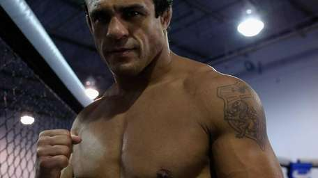 Vitor Belfort conducts an open workout at the