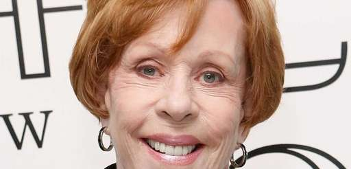 Comedian Carol Burnett backstage after a performance by