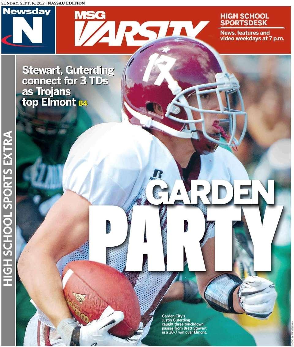 Newsday's front cover for its Sunday high school