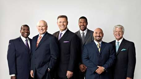 Fox NFL Sunday on-air team, from left: Curt
