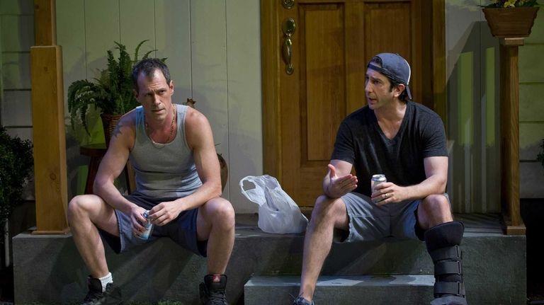 Darren Pettie and David Schwimmer in Lisa D'Amour's