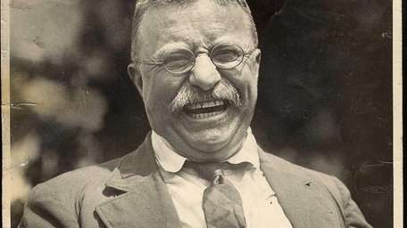 This 1912 photograph of Theodore Roosevelt in Oyster