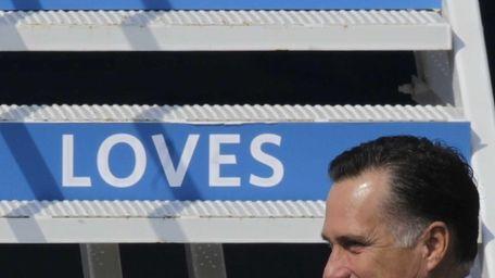 Republican presidential candidate and former Massachusetts Gov. Mitt