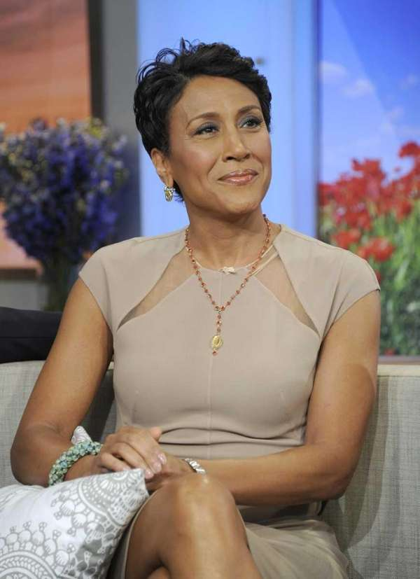 "Robin Roberts on ""Good Morning America,"" after announcing"