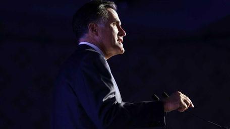 Republican presidential candidate Mitt Romney addresses the U.S.
