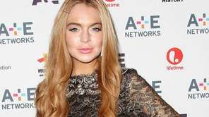 Actress Lindsay Lohan at the A&E Networks 2012