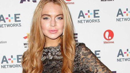 Actress Lindsay Lohan at the A&E Networks 2012