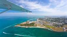 An aerial photo of Key West, Florida, the