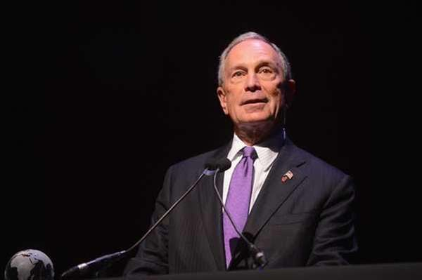 New York City Mayor Michael Bloomberg in an