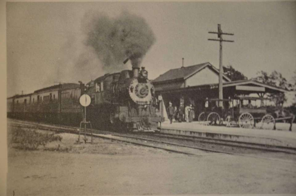 The Center Moriches Railroad station was built in