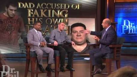 A still image from a broadcast of the