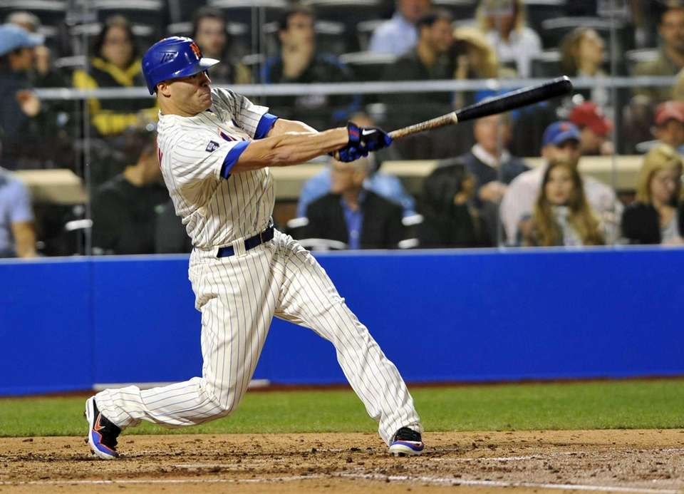 Scott Hairston doubles in the fourth inning of