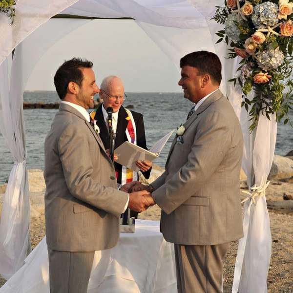 Robert Vitelli and David Kilmnick on their wedding
