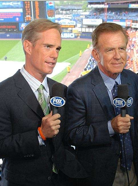 Joe Buck and Tim McCarver in the Fox