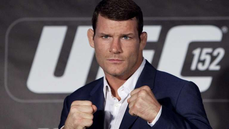 Michael Bisping poses during the UFC 152 pre-fight