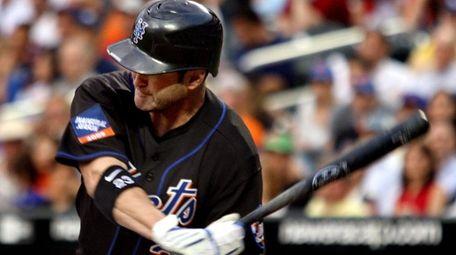 Mets catcher Brian Schneider on June 19, 2009.