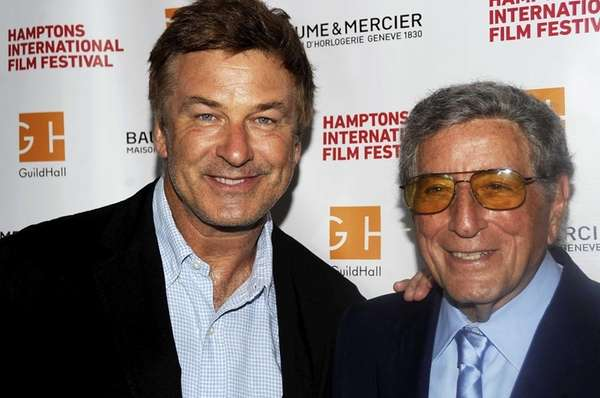 Alec Baldwin and Tony Bennett arrive for the