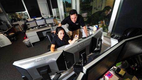 Melissa Curra and her boss Adam Schwam, president