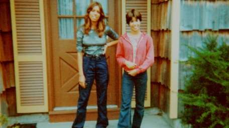 Eve, left, and Irene Wilkowitz outside their Oakdale