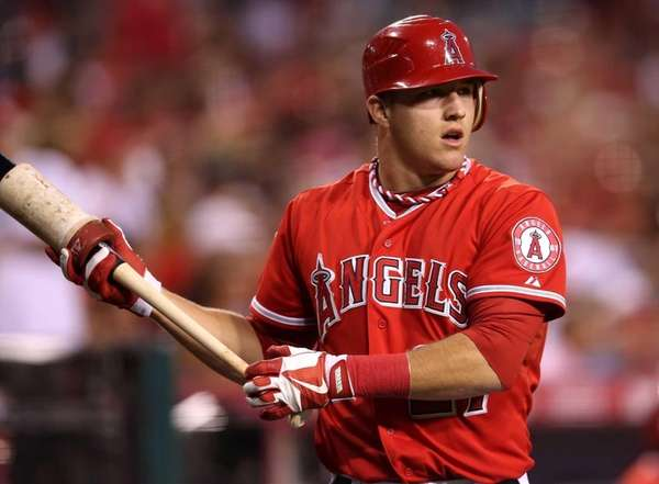 ANAHEIM, CA - SEPTEMBER 10: Mike Trout #27