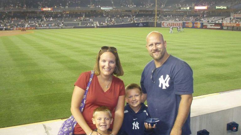 The McDonald family — Renée and Scott and