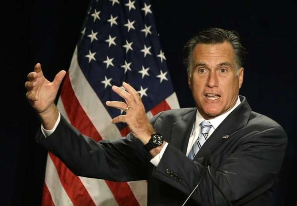 Mitt Romney speaks at a campaign fundraising event