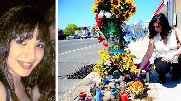 Sandi Vega in April 2011 at the makeshift