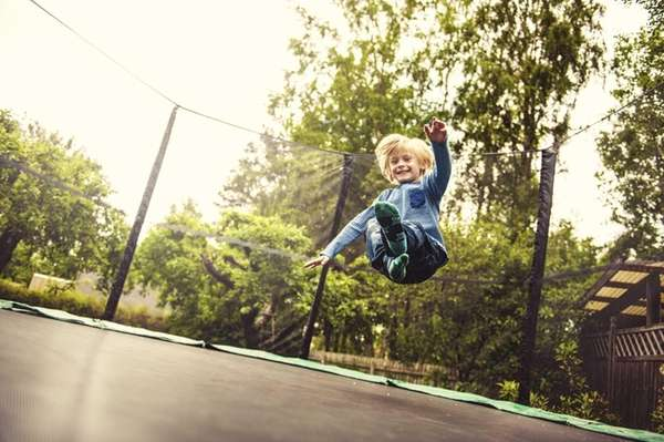 Even if you think your kids' backyard trampoline