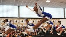 Valley Stream Central competes during a Nassau Cheerleading