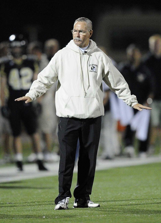 St. Anthony's head coach Rich Reichert reacts to