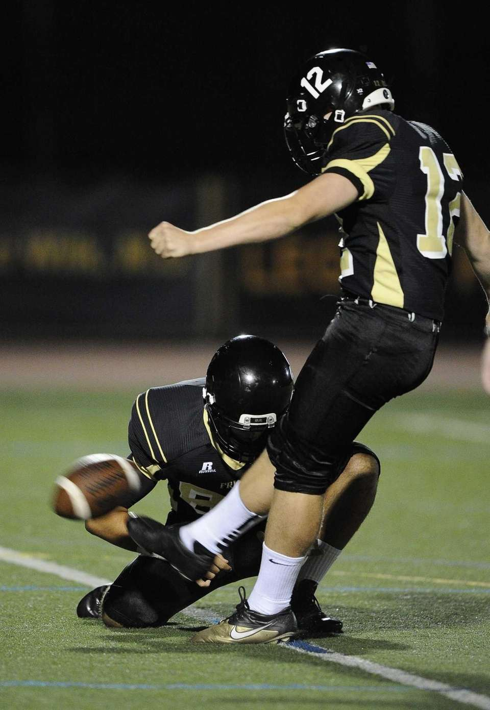 St. Anthony's Matt Musgrove kicks for an extra