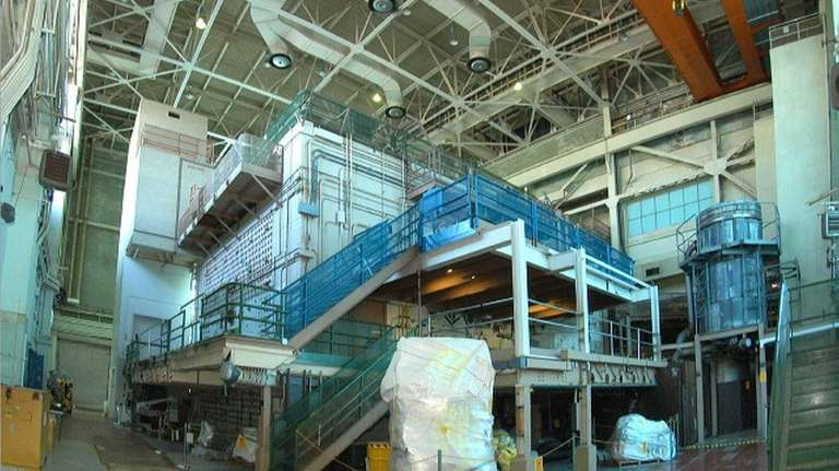 The Brookhaven Graphite Research Reactor's bioshield containing the