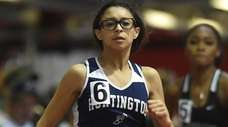 Analisse Batista of Huntington competes in the girls