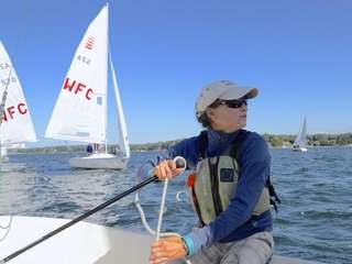 Alicia Martorella, 32, the sailing director at the