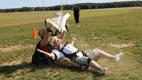 Kathy Gibson, 76, of Bayville, made the tandem