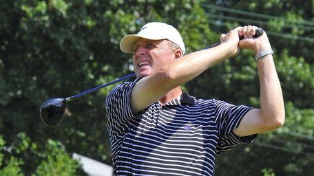 Bruce Zabriski follows his tee shot while playing