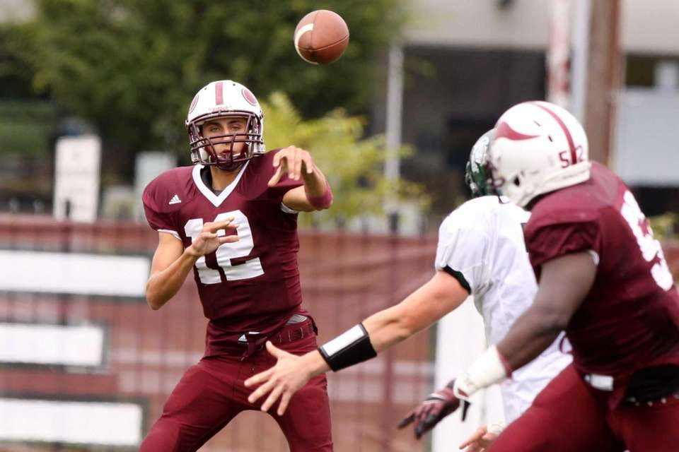 Bay Shore's Ryan Mazzie throws the ball during