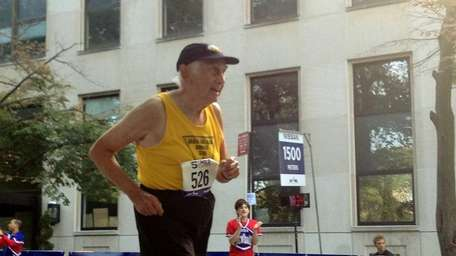 Bill Benson 93, completed the Fifth Avenue Mile