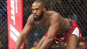 Jon Jones waits for the fight to start