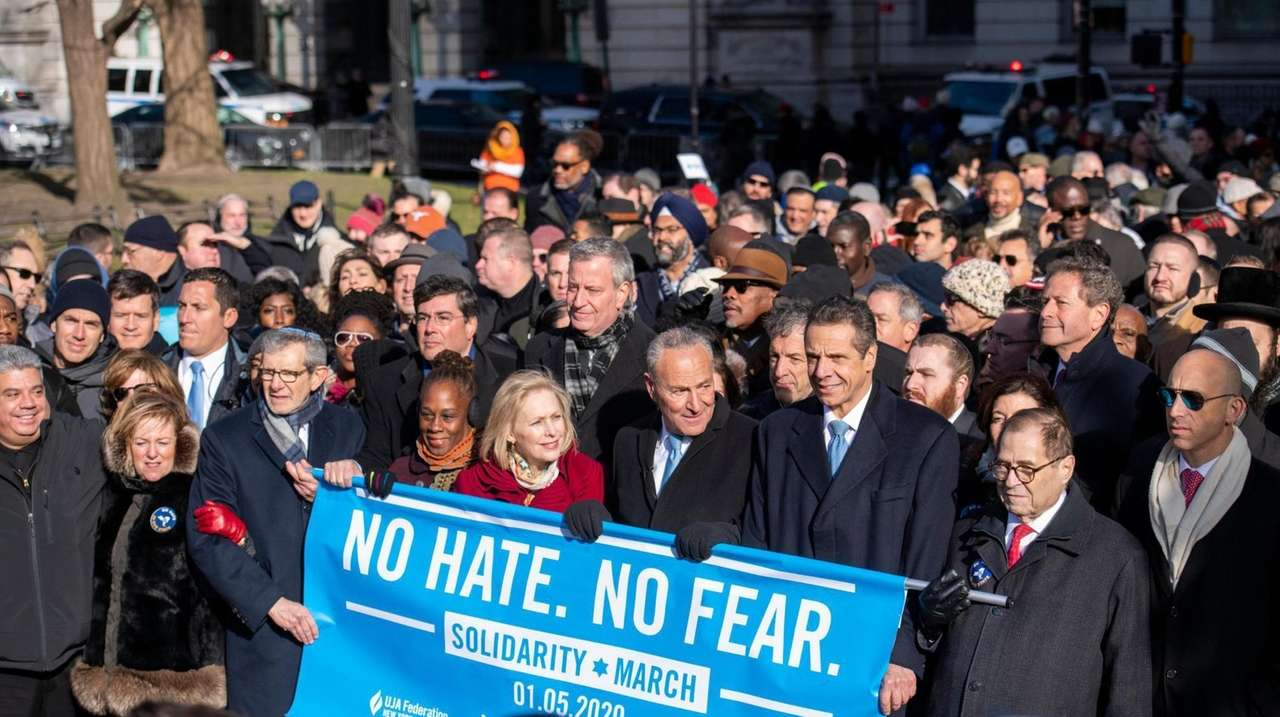 Thousands of people marched across the Brooklyn Bridge