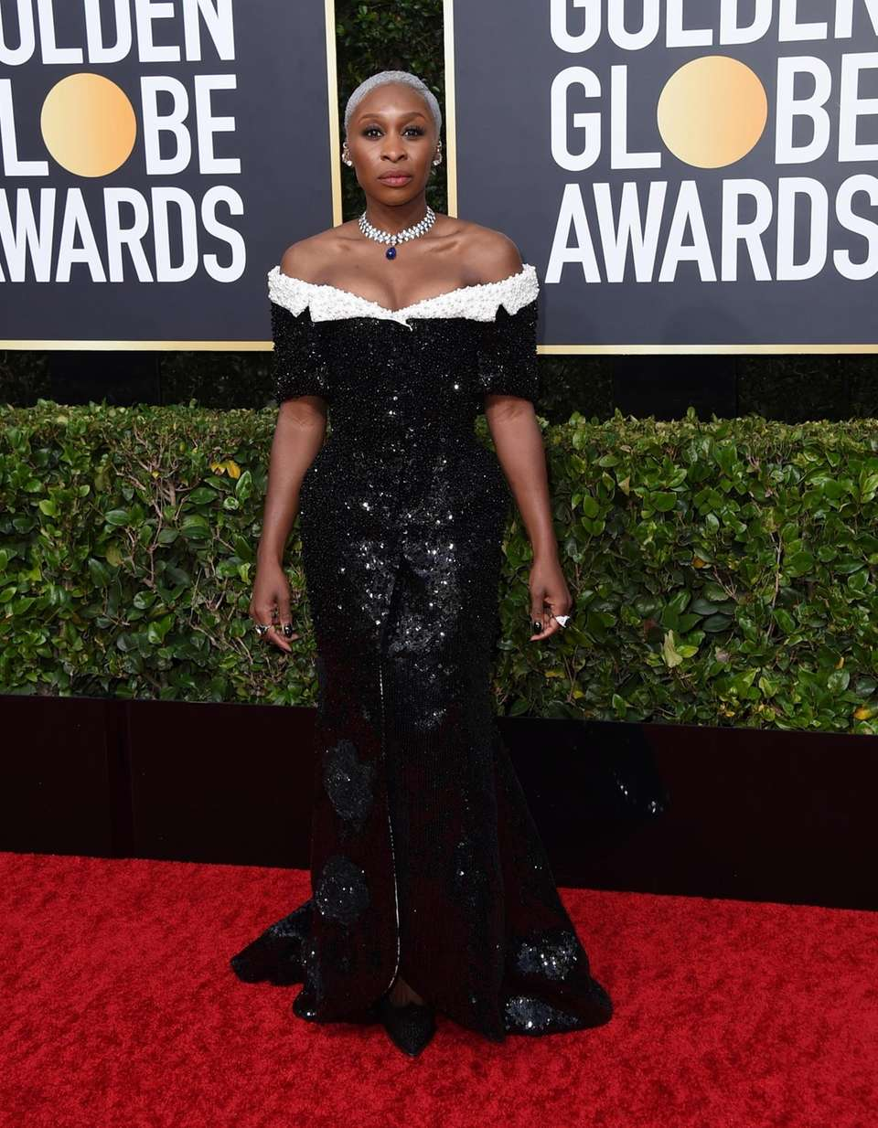 Cynthia Erivo arrives at the 77th annual Golden