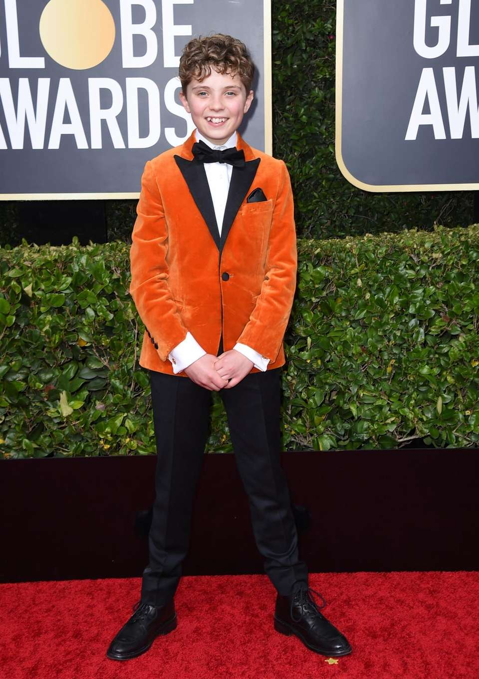 Roman Griffin Davis arrives at the 77th annual