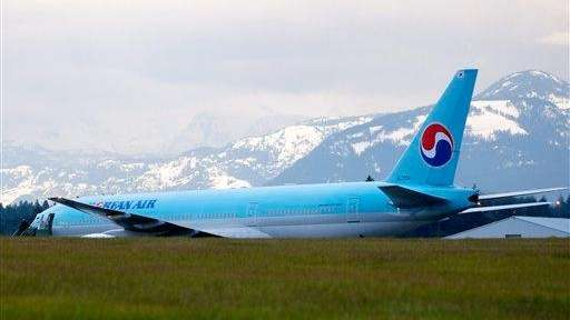 File image of a Korean Air Boeing 777