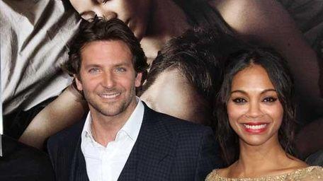 Bradley Cooper and Zoe Saldana attend the premiere