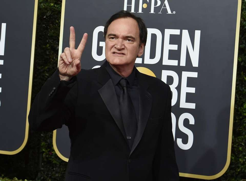Quentin Tarantino arrives at the 77th annual Golden